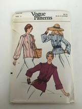 Vogue Sewing Pattern 8916 Size 12 Vintage Blouse Shirt Top 1970s Style U... - $12.74