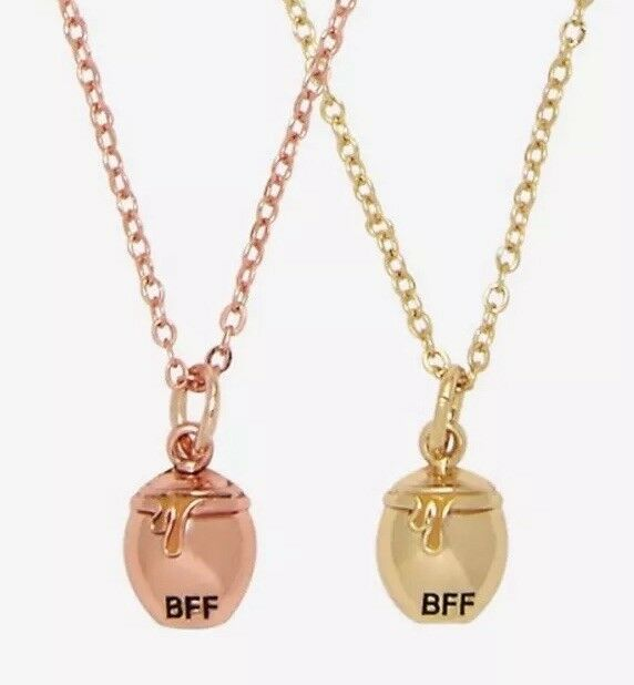 Primary image for Disney Winnie The Pooh Honey Pot BFF Besties Pendent Necklace Set