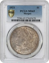 1921 Morgan $1 PCGS MS65 - Morgan Silver Dollar - $135.80