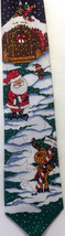 Hallmark Yule Tie Greetings Santa Golfing Tie Golf Reindeer Elf Snow Chr... - $21.03