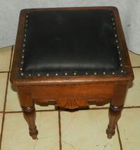 Solid Walnut Shoe Shine Box / Footstool / Stool - $399.00