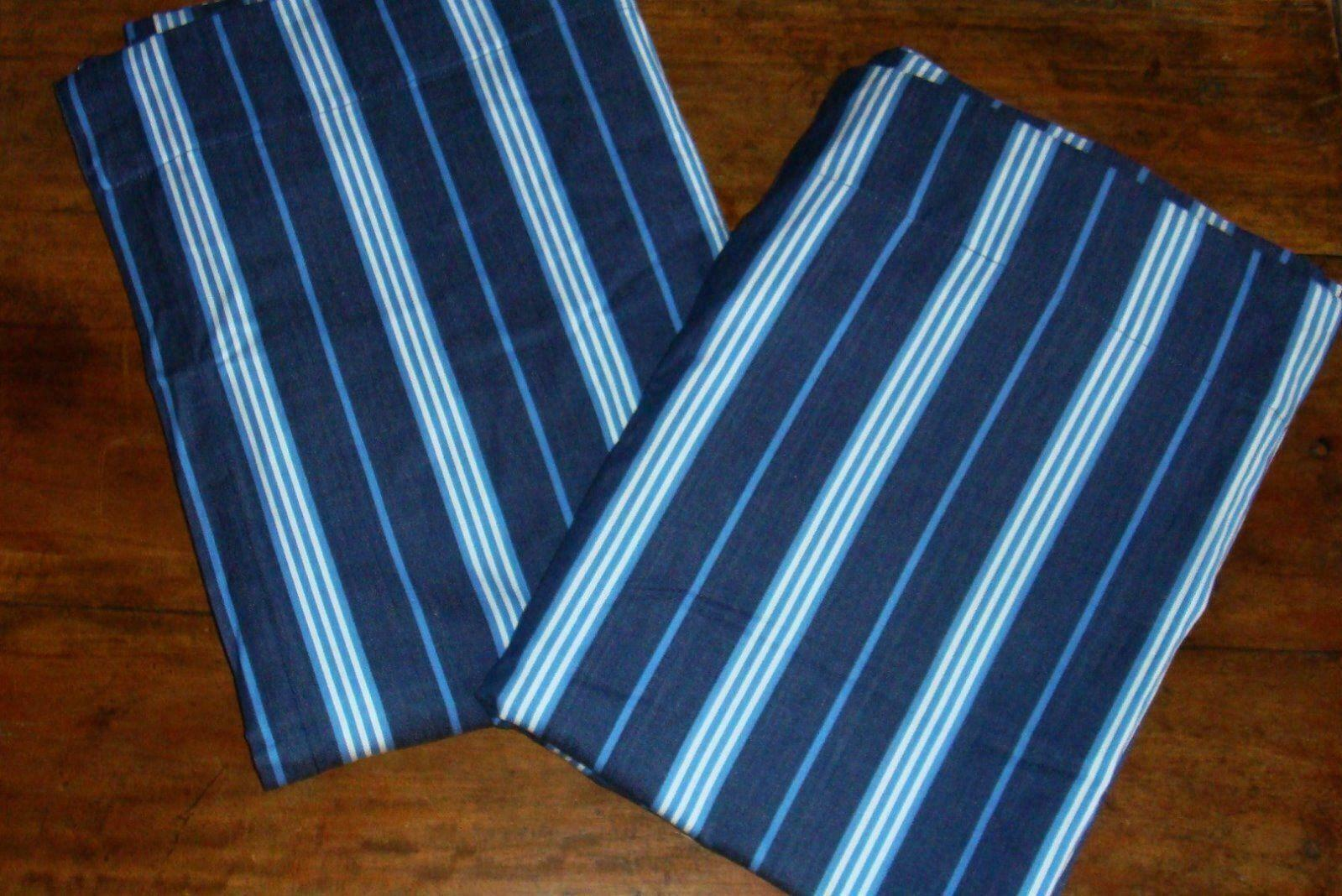 Primary image for Pottery Barn Kids Navy Blue 1 Classic Stripe Drapery Panel 44 X 63 EUC