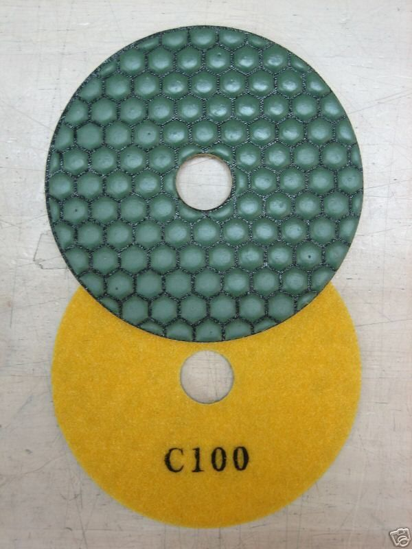 "Primary image for ZERED 4"" PREMIUM Diamond Dry Polishing Pad Disc #100 Granite"