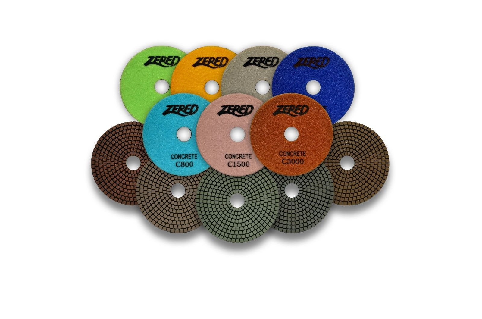 Primary image for ZERED Premium Resin Diamond Polishing Pads for Concrete Floor