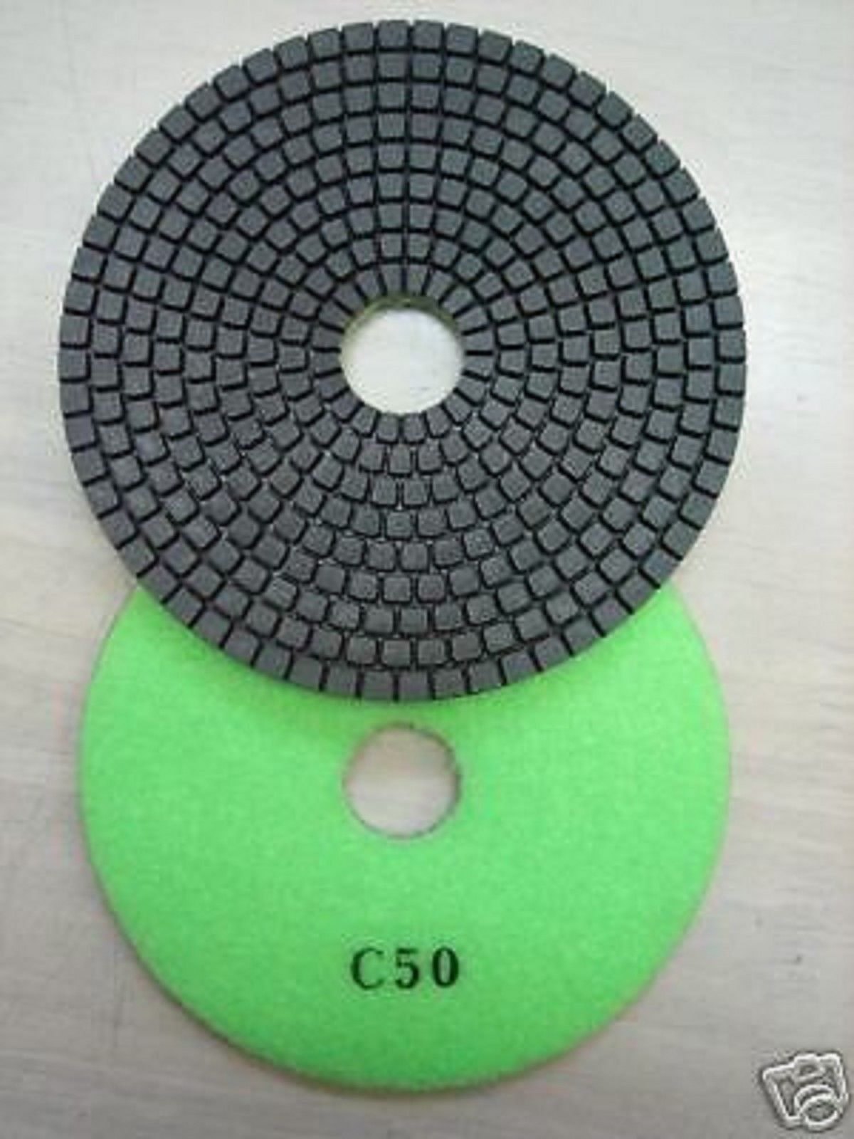 "Primary image for ZERED 4""Premium Diamond Polishing Pad for Granite Marble #50"