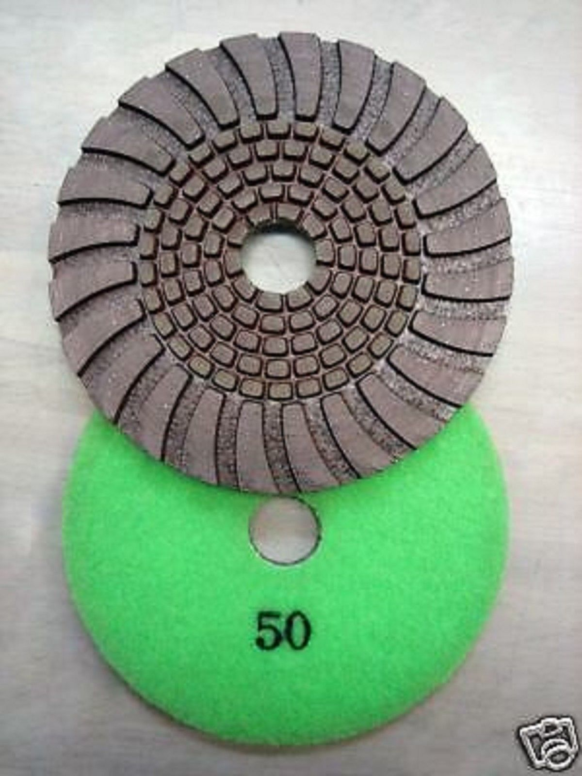 "Primary image for ZERED 4"" Diamond Tornado Polishing Pad Disc #50 Granite Tool"