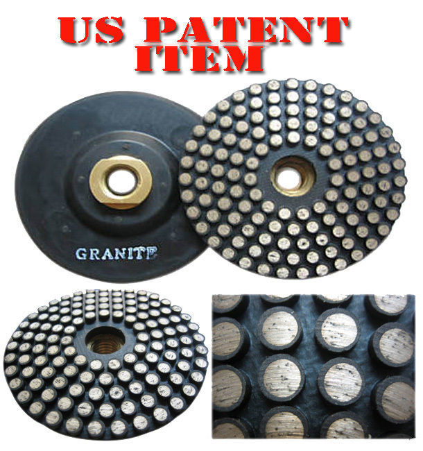 Primary image for ZERED Diamond Metal Polishing Pad with Thread for Granite #150