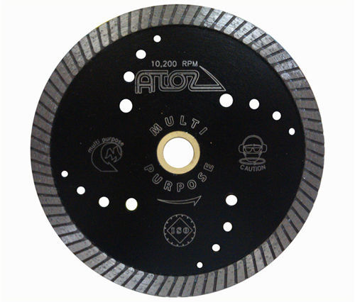 "Primary image for ZERED 8"" Atoz Multi-Purpose Dry Diamond Saw Turbo Blade"