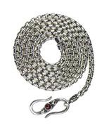 Gerochristo 3055 - Sterling Silver Byzantine Chain with Garnet - 50 cm  - $270.00