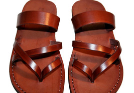 Brown Moon Leather Sandals - $60.00