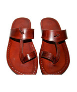 Brown Twizzle Leather Sandals - $60.00