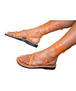 Caramel Gladiator Leather Sandals - $75.00