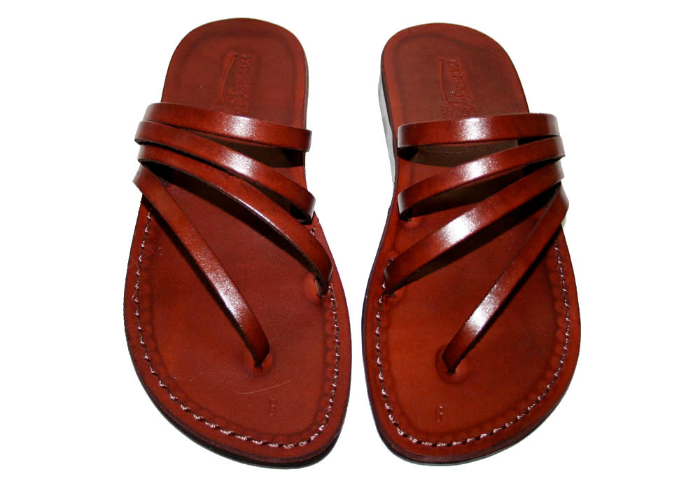 Brown Rainbow Leather Sandals