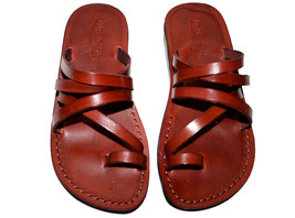 Brown Buckle-Free Leather Sandals - $60.00