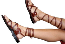 Brown Gladiator Leather Sandals - £59.26 GBP