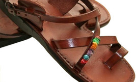 Brown Decor Roxy Leather Sandals - $75.00