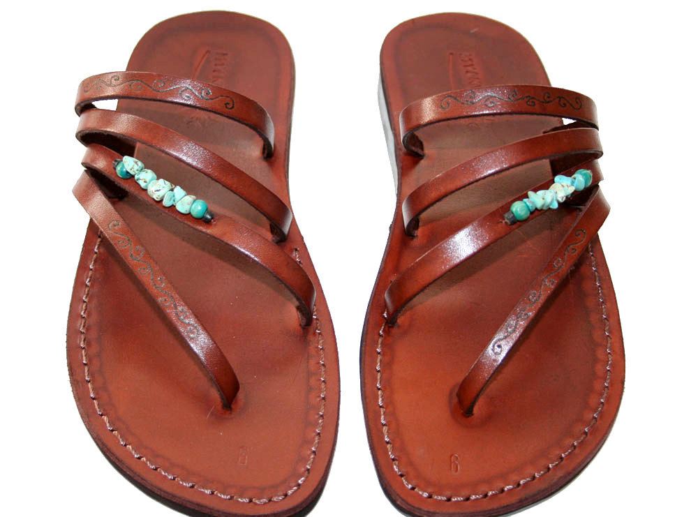 Primary image for Brown Decor Rainbow Leather Sandals