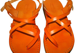 Orange Triple Leather Sandals - $85.00