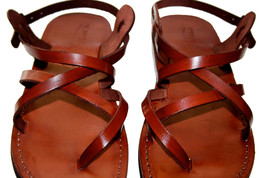 Brown Triple Leather Sandals - $65.00