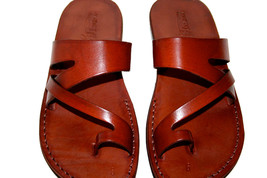 Brown Zing Leather Sandals - $60.00
