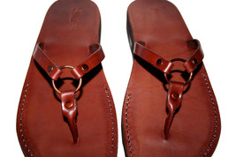 Brown Skinny Leather Sandals - $60.00