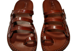 Brown Sky Leather Sandals - New Collection - £47.41 GBP