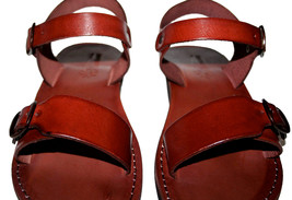 Brown Eclipse Leather Sandals - $65.00