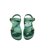 Green Eclipse Leather Sandals - $85.00