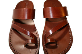 Brown Roman Leather Sandals - New Collection - $60.00