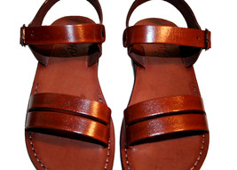 Brown Hammer Leather Sandals - £51.36 GBP