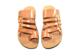 Caramel Skate Leather Sandals - £51.36 GBP