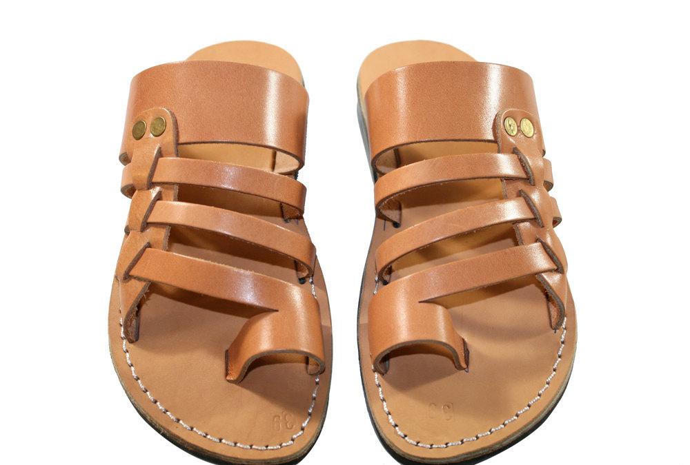 Caramel Skate Leather Sandals