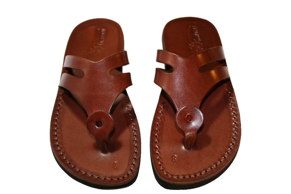 Primary image for Brown Arrow Leather Sandals - New Collection