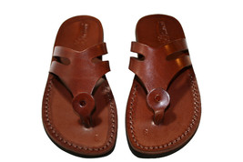 Brown Arrow Leather Sandals - New Collection - $60.00