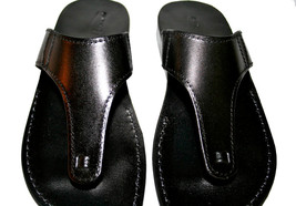 Black Wave Leather Sandals - $60.00
