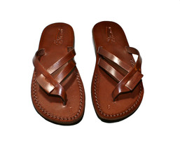 Brown Hoya Leather Sandals - New Collection - $60.00