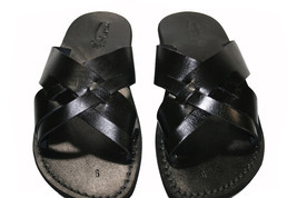 Black Capri Leather Sandals  -- NEW version - £47.41 GBP