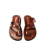 Brown Thong Leather Sandals - New Collection - $60.00