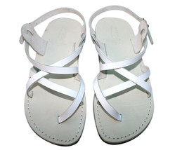 White Triple Leather Sandals - $85.00