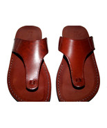 Brown Wave Leather Sandals - $60.00