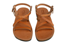 Caramel Star Leather Sandals - $65.00