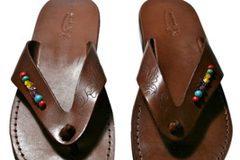 Brown Decor Surf Leather Sandals - $70.00