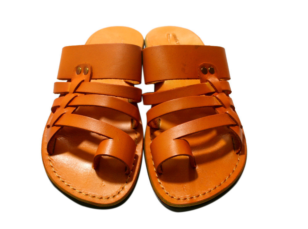 Primary image for Orange Skate Leather Sandals