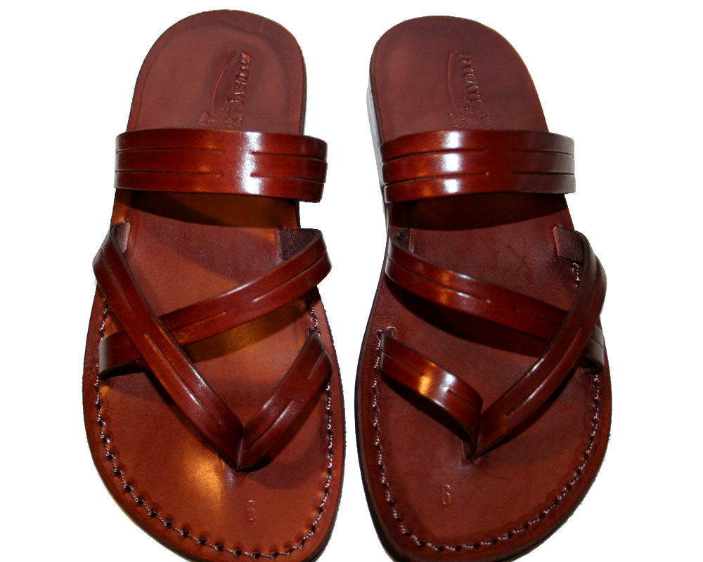 Brown Sling Leather Sandals - $60.00
