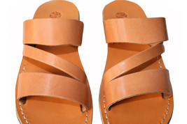 Caramel Flip Leather Sandals - $60.00