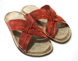 Red CAPRES Leather Sandals - Anatomic Soles - $95.00
