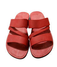 Red Flip Leather Sandals - $80.00