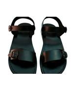 Black Eclipse Leather Sandals - $65.00