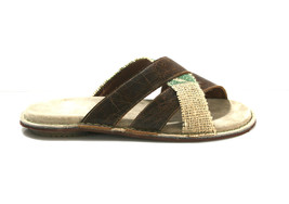 Brown/Green TWIRL Leather & Recycled Utah Sandals  - Anatomic Soles - $115.00