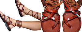 Brown DECOR Gladiator Leather Sandals - $80.00